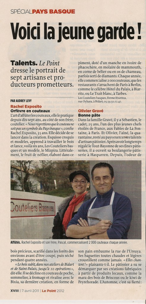 article-le-point-les-couteliers-basques-presse