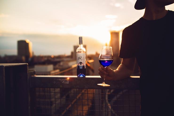 Gik, un vin bleu aux notes sucrées