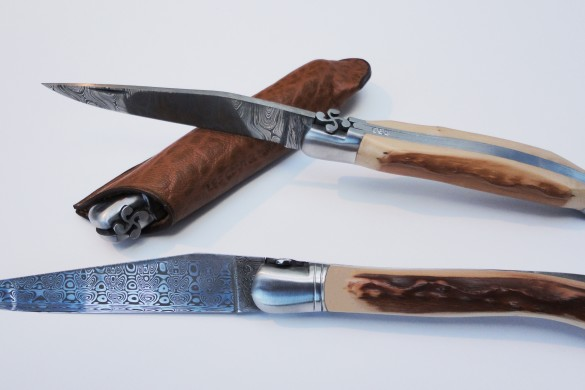 Couteau basque artisanal Mizpira avec lame damas
