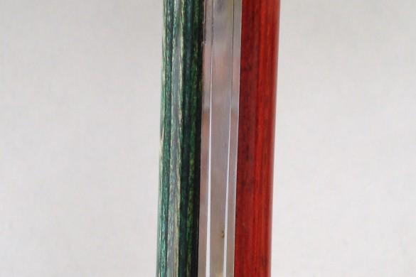Bixia - L'épicé vert-rouge de profil droit
