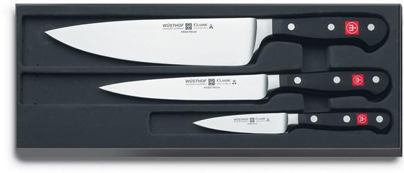 Set de couteaux Wusthof, les essentiels de la cuisine.