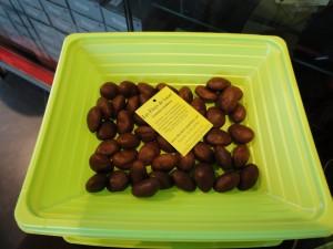 Fève de cacao avec ganache de la chocolaterie Puyodebat de Cambo