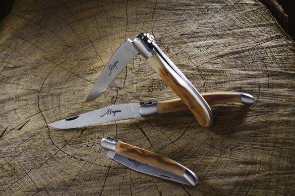 Mizpira, couteau artisanal basque en néflier scarifié