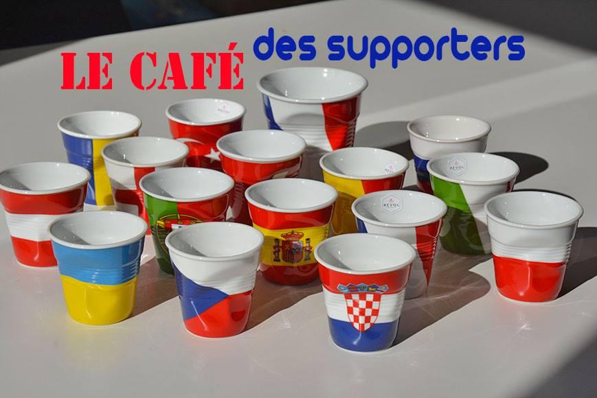 Tasses à café drapeaux pour l'Euro 2016