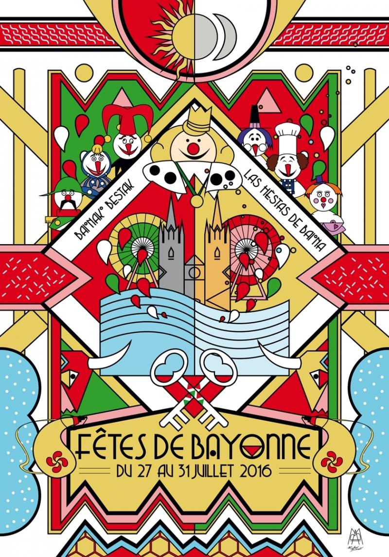 Affiche des fêtes de Bayonne 2016