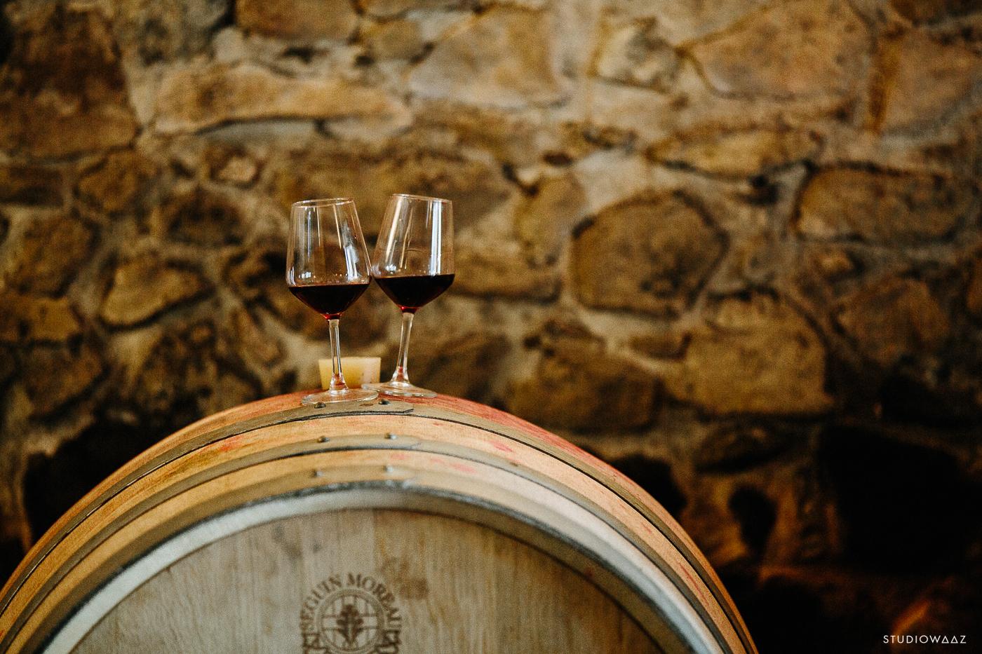 Barriques de vins de la Cave d'Irouleguy