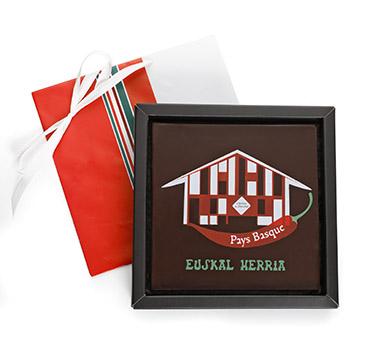Carré de chocolat Maison Basque de l'Atelier du Chocolat