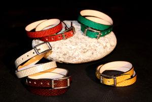 Jolies ceintures en cuir de truite de Banca, idée cadeau originale pour Noël