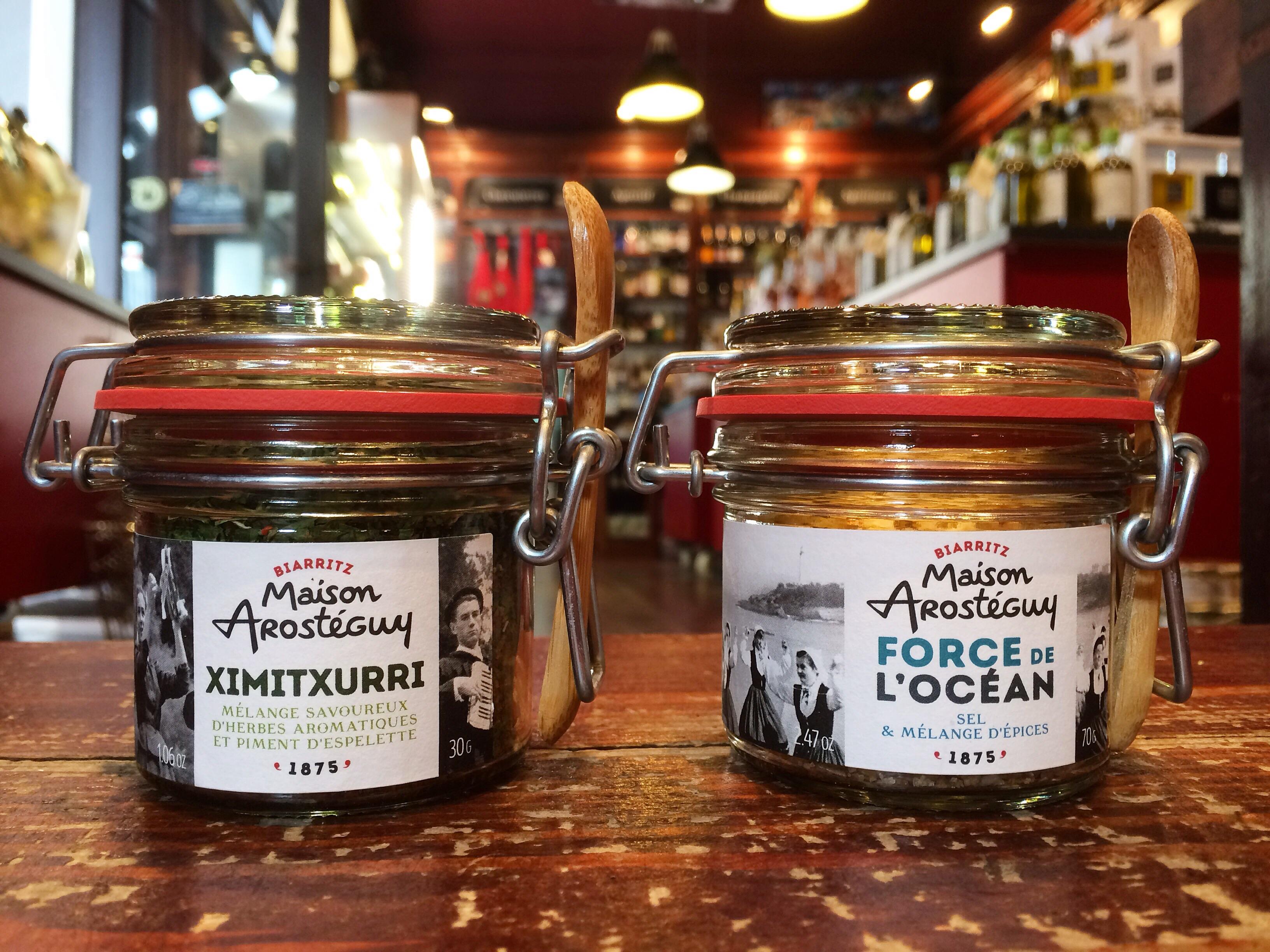 Mélanges d'épices de la maison Arostéguy