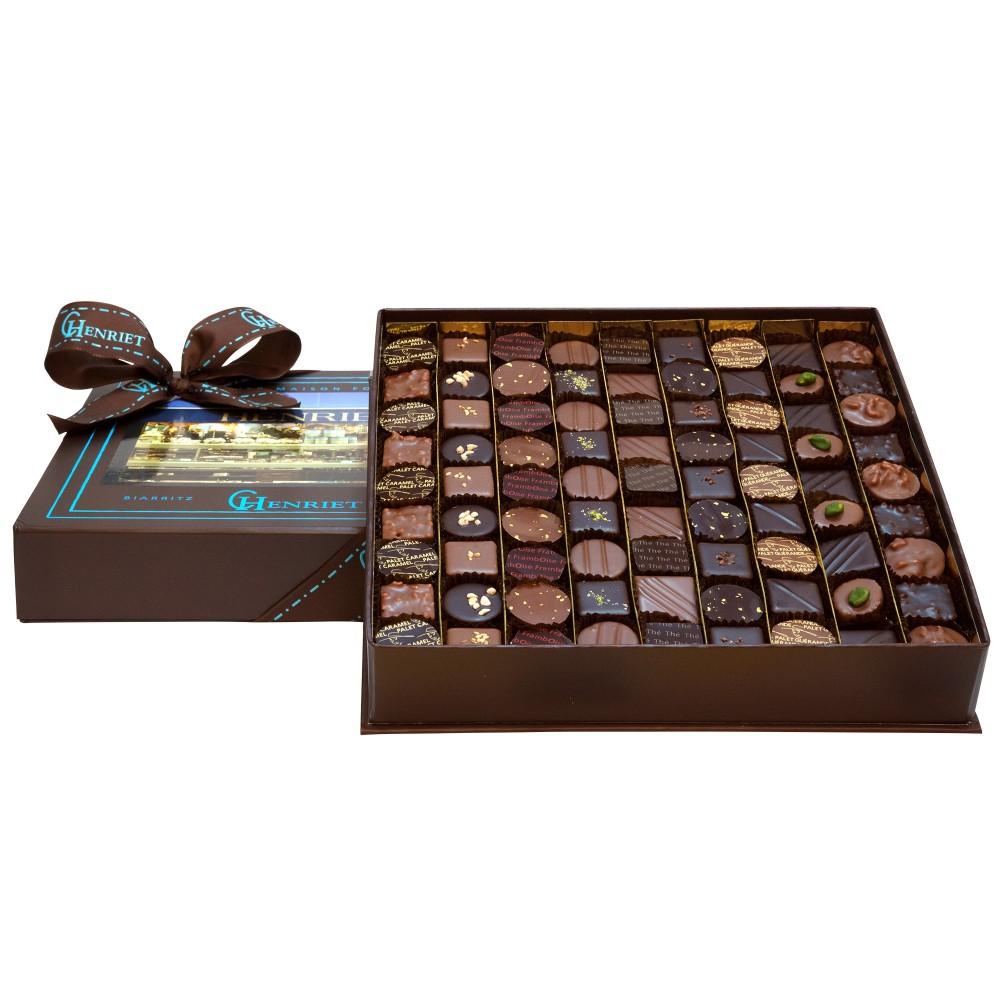 Coffret de chocolat Henriet pour Noël