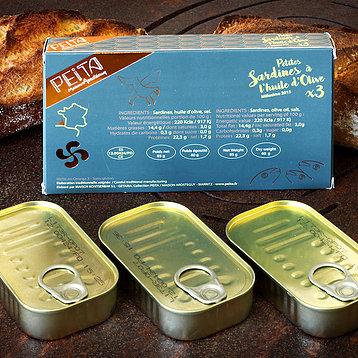 Petites sardines à l'huile d'olive Peita