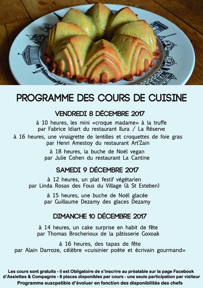 Cours de cuisine gratuits chez Assiette & Compagnie